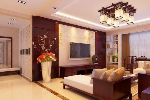 新中式客厅吊顶设计