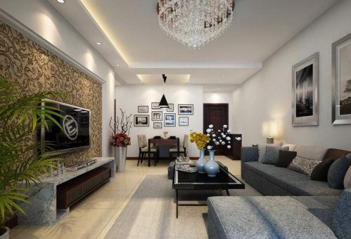 简约客厅背景墙设计