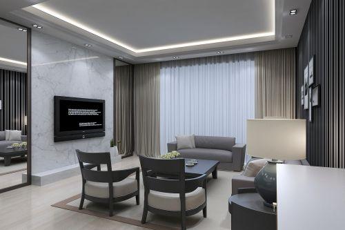 现代简约客厅背景墙图片