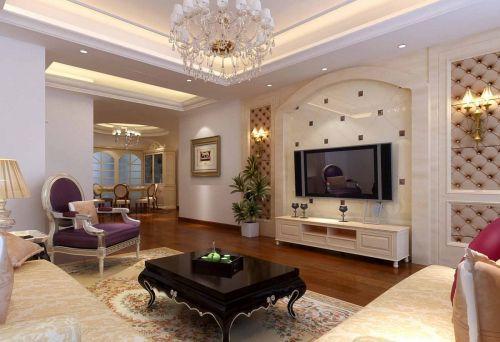欧式古典客厅背景墙设计