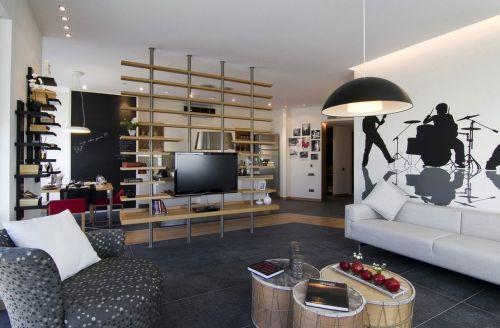 现代简约客厅装潢效果图