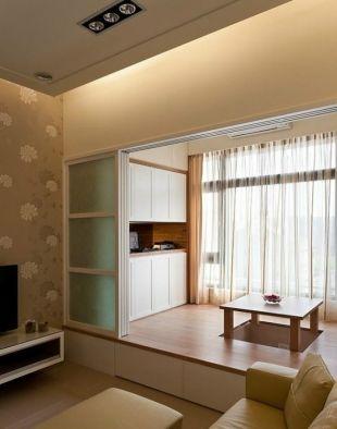 日式风格客厅地台图片