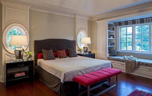 新古典卧室飘窗效果图