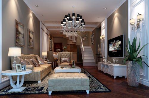 复式楼层欧式风格客厅装修效果图