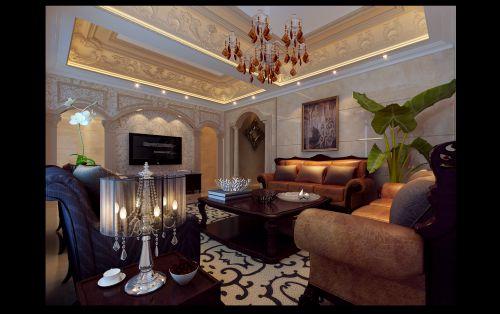 欧式新古典客厅设计