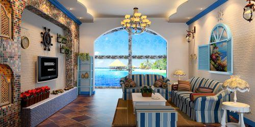 地中海风格客厅设计