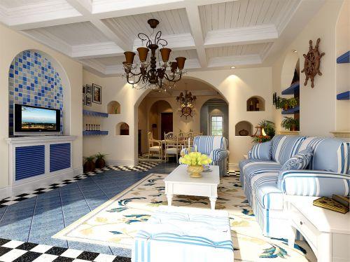 地中海风格客厅装潢
