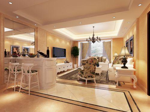 美式风情客厅设计