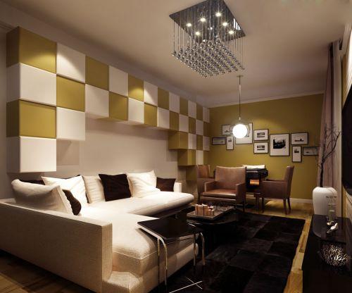 温暖小客厅装潢设计