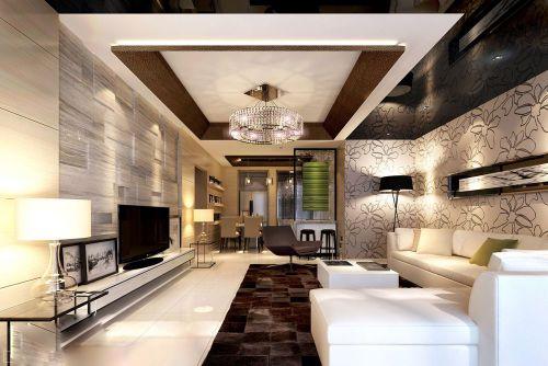 开放式客厅中式风格装修图