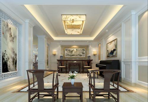中式混搭客厅设计