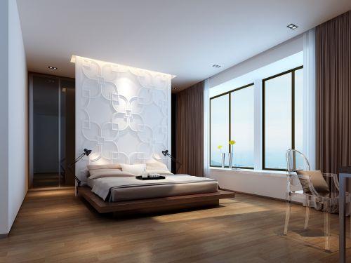 小户型开放式卧室装修图