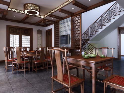 古典餐廳效果圖