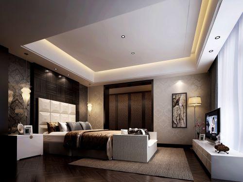 咖啡色时尚卧室效果图