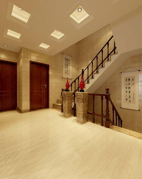 别墅简约楼梯口装潢