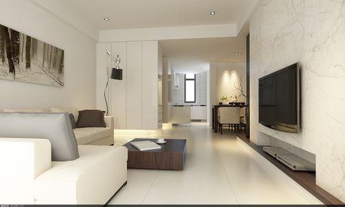 白色简约的客厅装潢