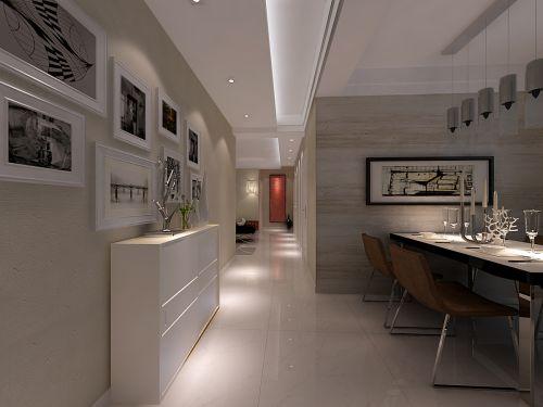 白色的简约餐厅设计