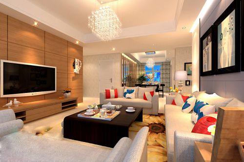 彩色的客厅效果图