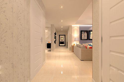 白色的走廊装潢