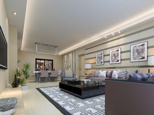 宽敞简约的客厅效果图