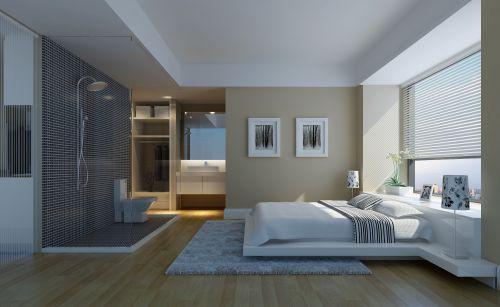 白色的简约卧室设计