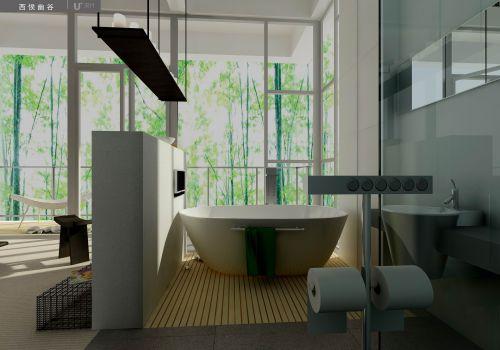 简约浴盆卫生间设计