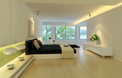 绿色清新的卧室效果图