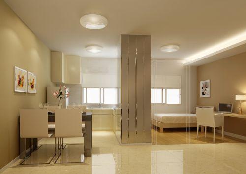 乳白色簡約餐廳設計