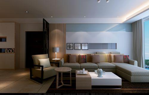 宽敞简约客厅设计
