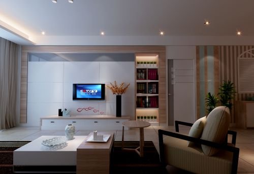 朴素简约的现代客厅装修