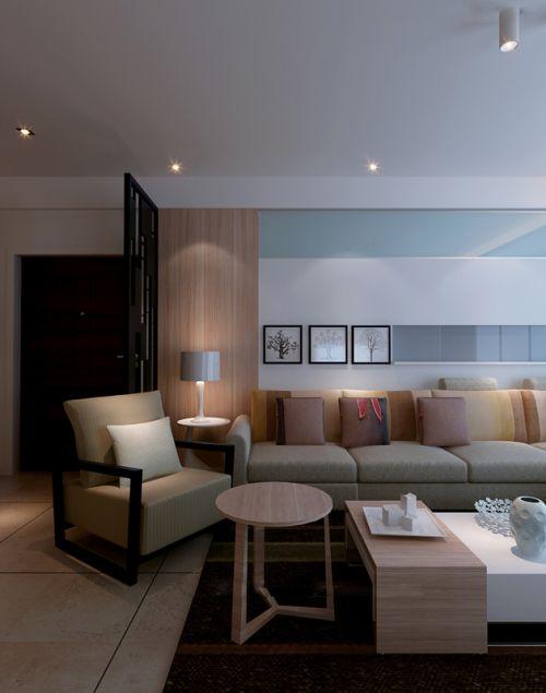 简约客厅一角设计
