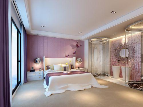 创意地中海粉色卧室装修