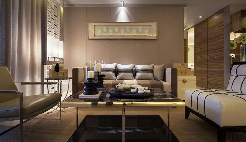 灰色美式优雅客厅效果图
