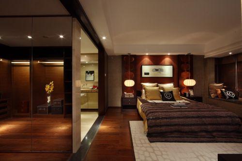 咖啡色的现代卧室装修