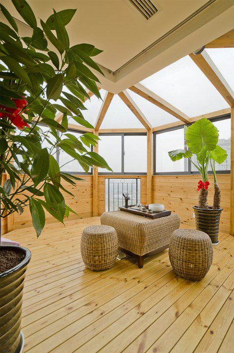 木质阁楼阳台装修