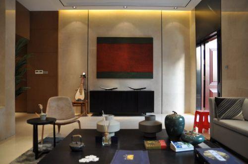 中式创意客厅效果图