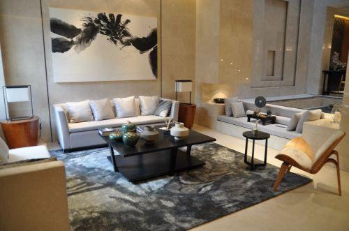 灰色简约的现代客厅设计