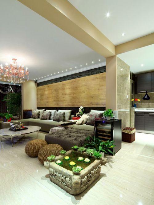 有绿色植物的客厅装修