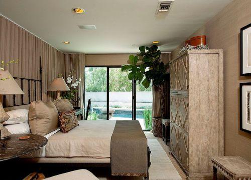 美式舒适田园卧室效果图