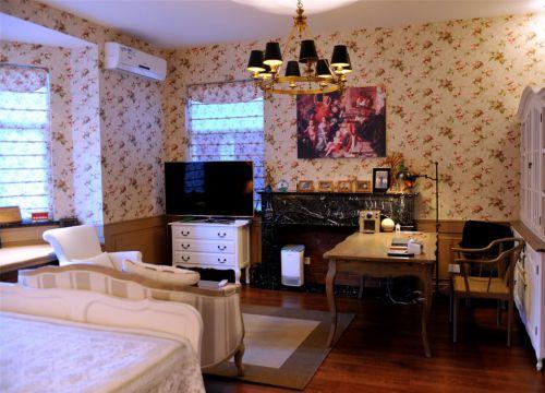 客厅书房一体化欧式装修