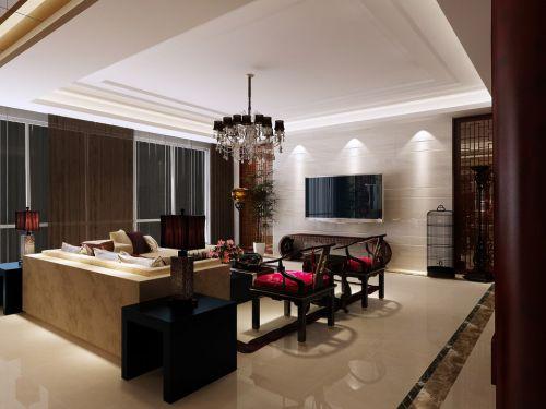 新中式宽敞的客厅装潢