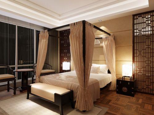 咖啡色简约古典卧室设计