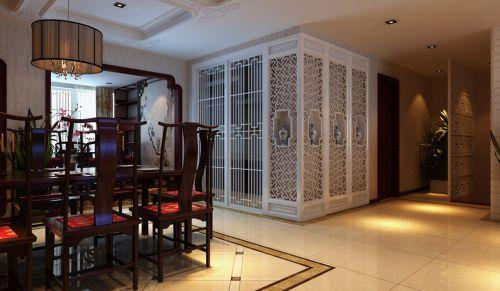 咖啡色和白色搭配的古典餐厅装修