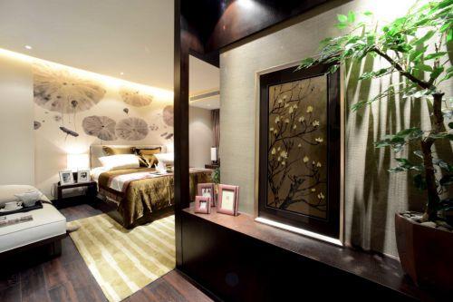 金黄色豪华的小卧室设计
