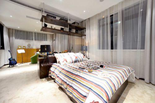 现代简约卧室休闲室一体装潢