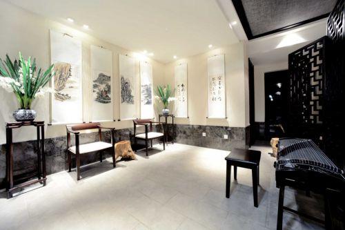 简约新中式客厅效果图