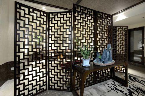 古典木质屏风装潢