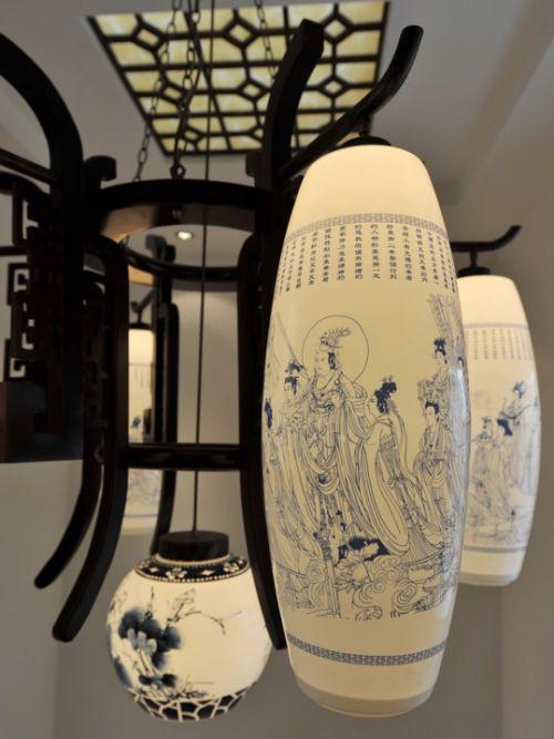 古典客厅灯饰效果图