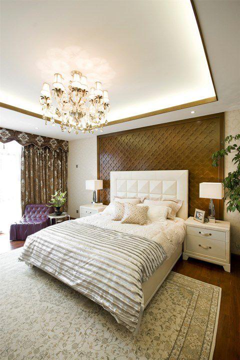 简欧风格白色卧室设计