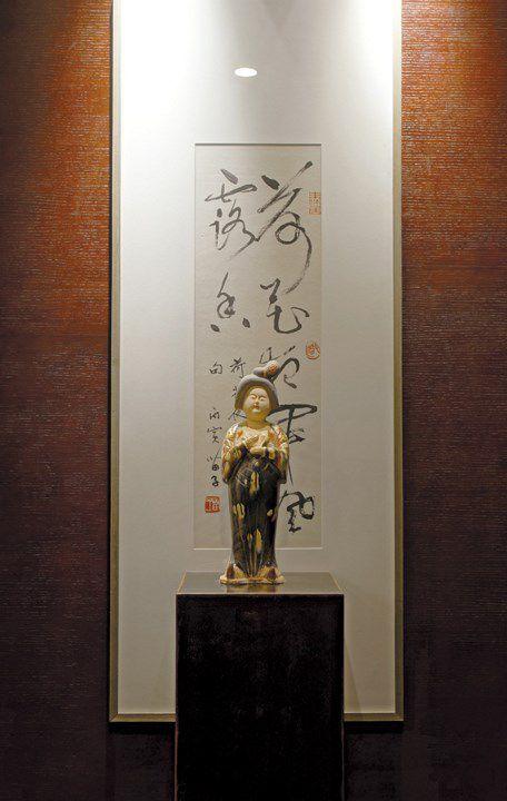 古典书画壁纸的背景墙效果图
